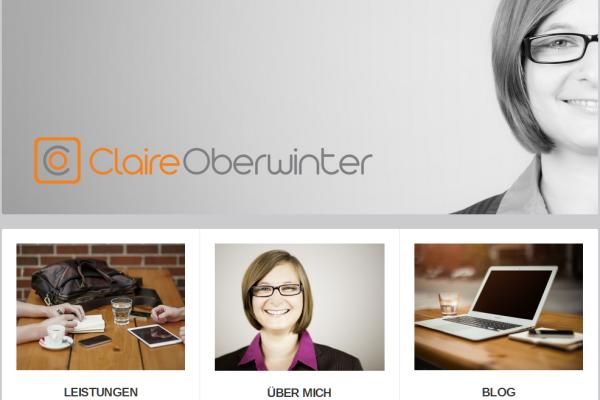 Webseite von claire oberwinter